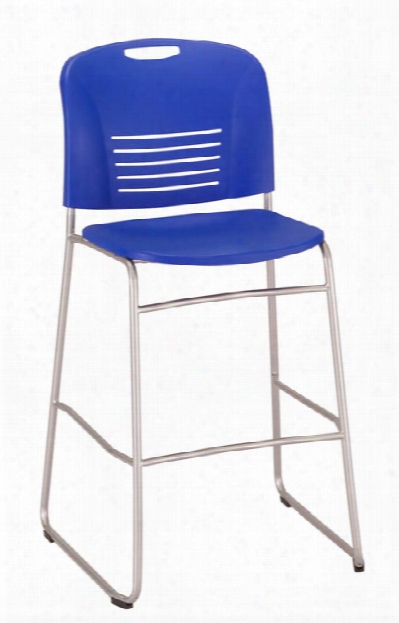 """Vyâ""""¢ Bistro-height, Sled Base Chair By Safco Office Furniture"""