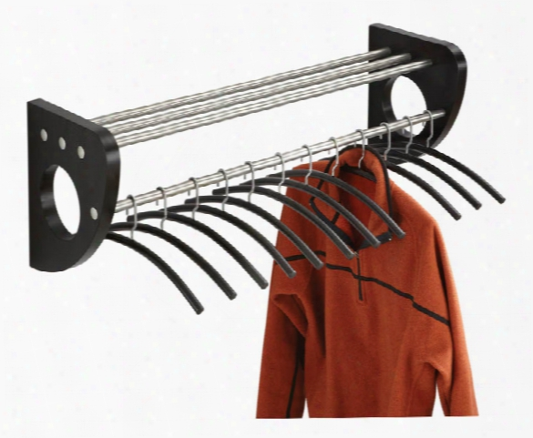 Wall Coat Rack With Hangers By Safco Office Furniture