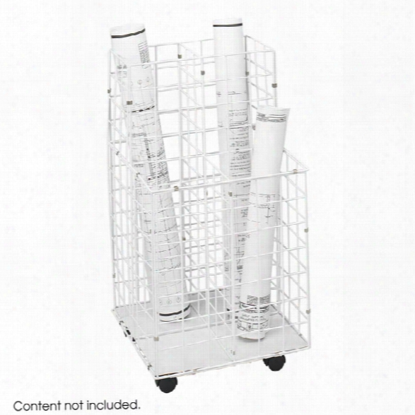 Wire Roll File, 4 Compartment By Safco Office Furniture