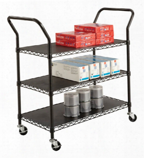 Wire Utility Cart - 3 Shelves By Safco Office Furniture