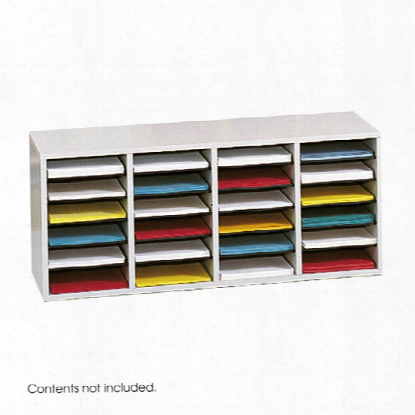 Wood 24 Compartment Literature Organizer By Safco Office Furniture