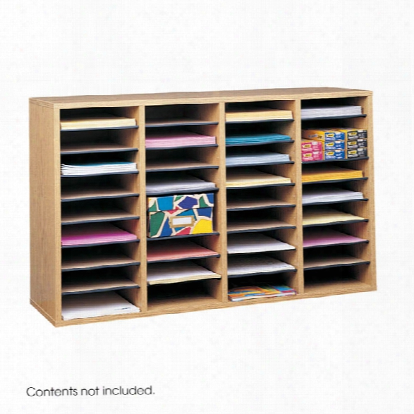 Wood 36 Compartment Literature Organizer By Safco Office Furniture