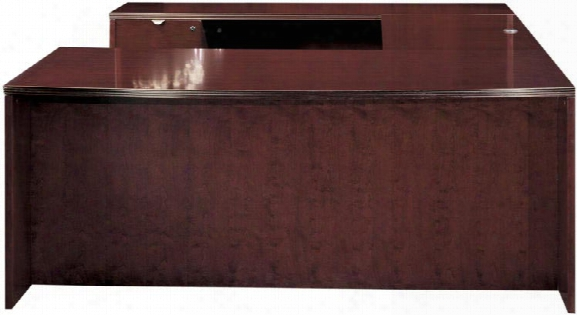 Wood Veneer Bow Front U Shaped Desk By Cherryman  Furniture