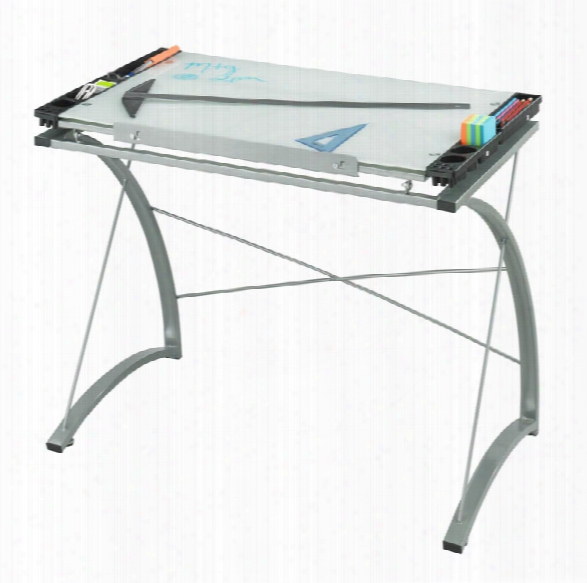 """Xpressionsâ""""¢ Glass Top Drafting Table By Safco Office Furniture"""