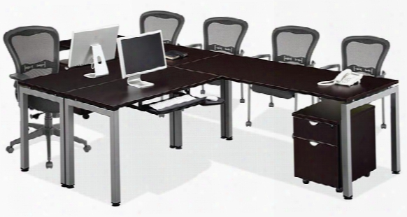 "144"" 2 Person L Shaped Table Desk By Office Source"