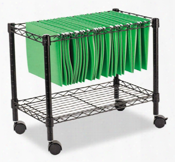 "24""w X 14""d X 21""h Single-tier Rolling File Cart By Alera"
