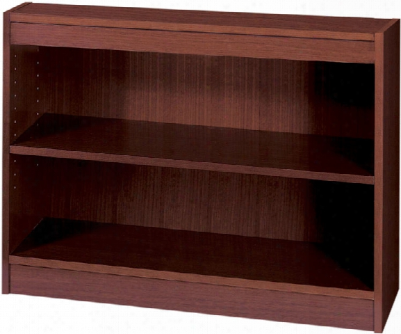 "30""h X 36""w Square Edge Veneer Bookcase By Safco Office Furniture"