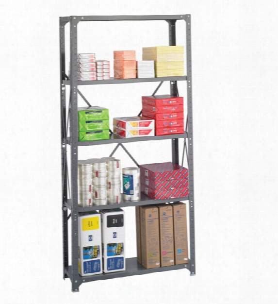 "36"" X 12"" X 75"" Commercial 5 Shelf Unit By Safco Office Furniture"