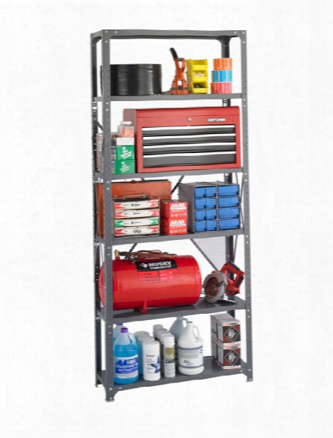 "36"" X 12"" X 85"" Industrial Steel Shelving By Safco Office Furniture"