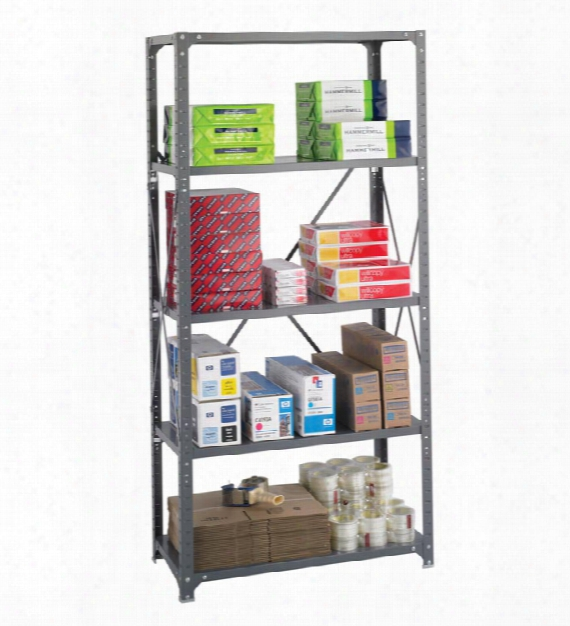 "36"" X 18"" X 75"" Commercial 5 Shelf Unit By Safco Office Furniture"