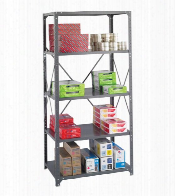 """36"""" X 24"""" X 75"""" Commercial 5 Shelf Unit By Safco Office Furniture"""