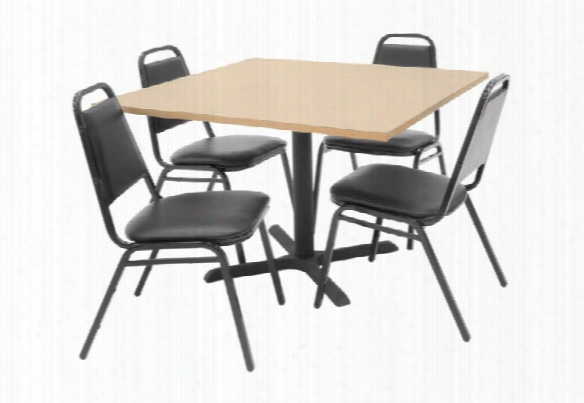 """42"""" Square Table With 4 Chairs By Regency Furniture"""