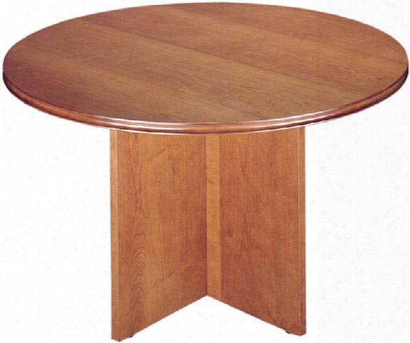 "48"" Round Wood Veneer Conference Table By High Point Furniture"
