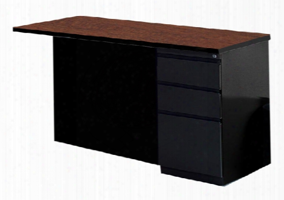 "48"" X 30"" Return With B/b/f Pedestal By Mayline Office Furniture"