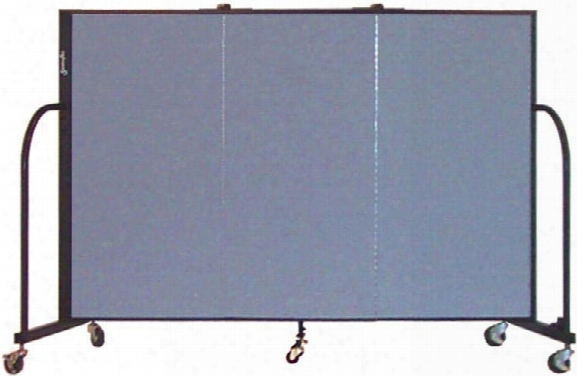 4ft High Three Panel Portable Room Divider By Screenflex