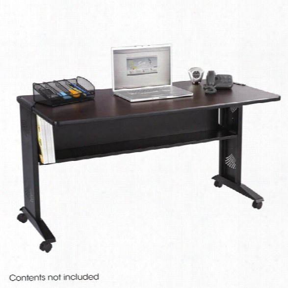 """54""""w Reversible Top Mobile Desk By Safco Office Furniture"""