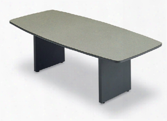 6' Boat Shape Conference Table With Slab Base By Abco