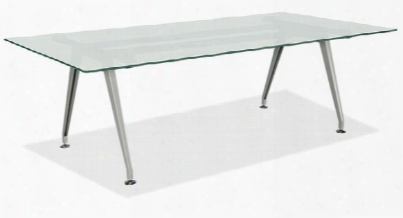 6' Frosted Glass Conference Table By Office Source