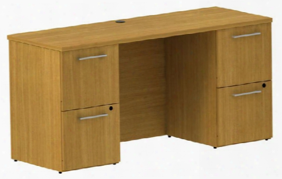 "60"" Double Pedestal Credenza By Bush"