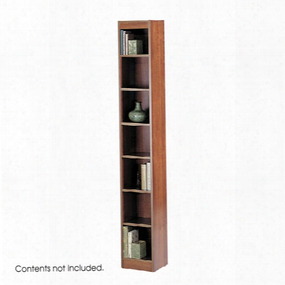"7-shelf Veneer Baby Bookcase, 12""w By Safco Office Furniture"