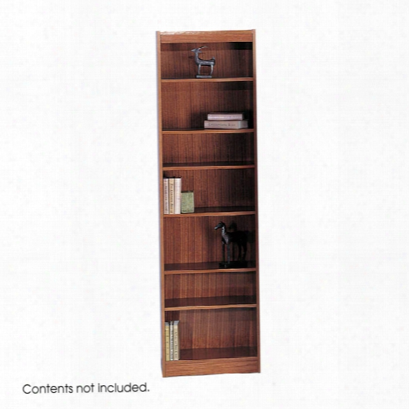 """7-shelf Veneer Baby Bookcase, 24""""w By Safco Office Furniture"""
