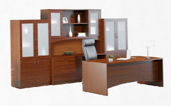 """72"""" Double Pedestal Desk With Additional Storage By Mayline Office Furniture"""