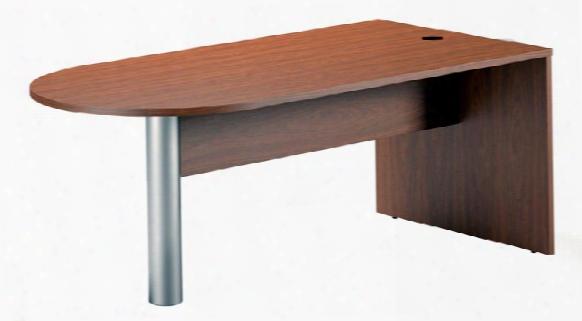 "72"" Freestanding Peninsula Desk By Mayline Office Furniture"
