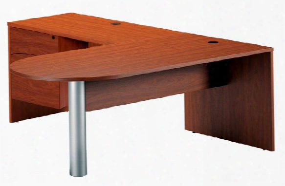 "72"" X 84"" Peninsula L Shaped Desk By Mayline Office Furniture"