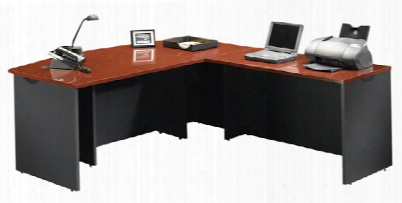 Bow Front Executive Desk With Return By Sauder