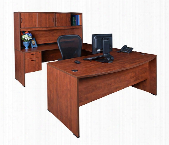 Bow Front U Shaped Desk With Hutch By Regency Furniture