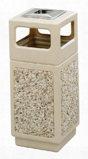 "Canmeleonâ""¢ Aggregate Panel, Ash Urn/side Open, 15 Gallon By Safco Office Furniture"