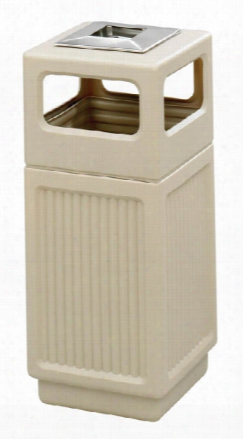 """Canmeleonâ""""¢ Recessed Panel, Ash Urn, Side Open, 15 Gallon By Safco Office Furniture"""