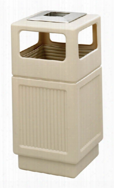 """Canmeleonâ""""¢ Recessed Panel, Ash Urn, Side Open, 38 Gallon By Safco Office Furniture"""