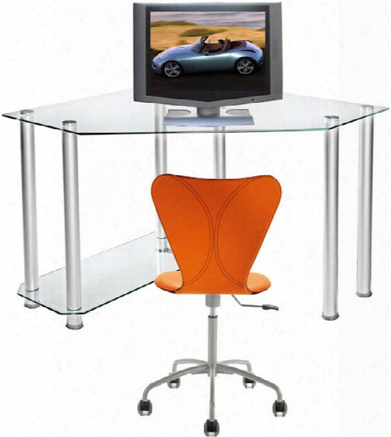 Corner Glass Computer Desk By Rta Products