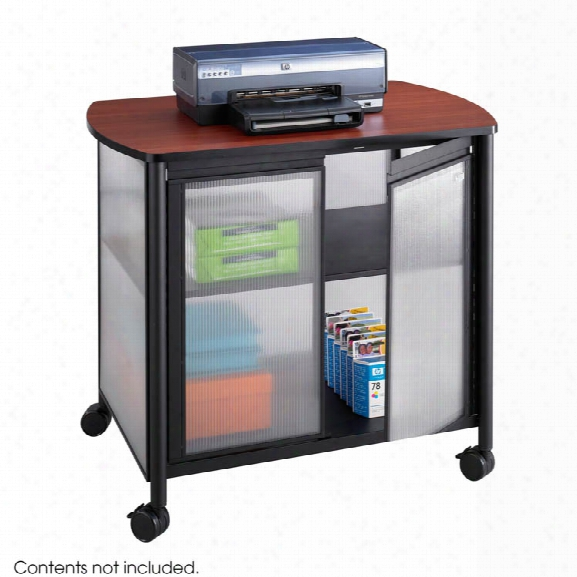 Deluxe Mobile Machine Stand With Doors By Safco Office Furniture