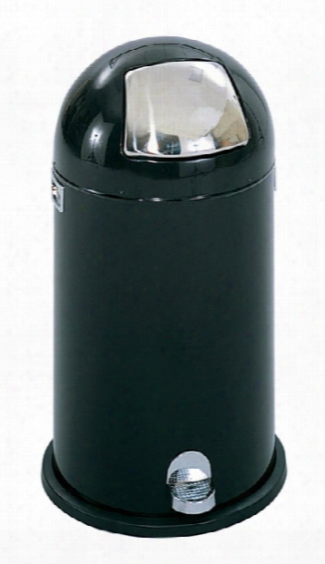 Dome Step-on Receptacle, 9-gallon By Safco Office Furniture