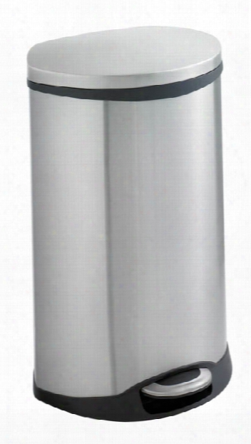 Ellipse Step On Receptacle 12.5 Gallon By Safco Office Furniture