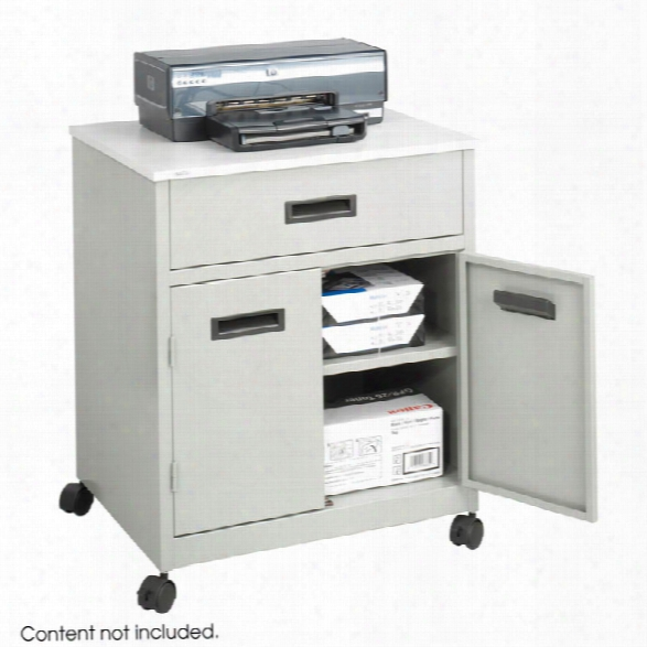 Enclosed Steel Machine Stand With Drawer By Safco Office Furniture