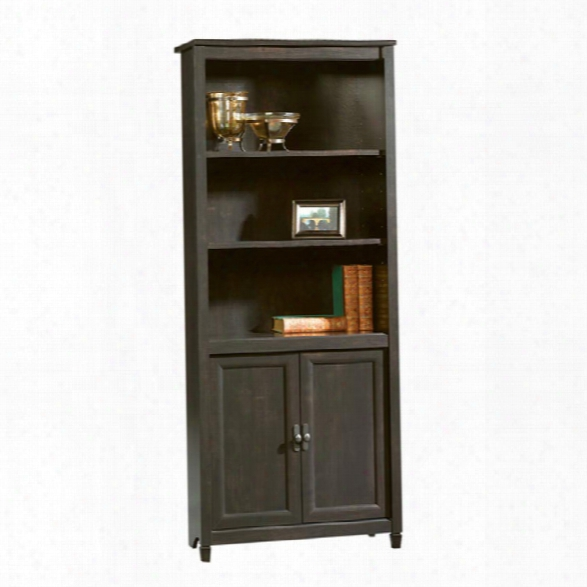 E State Black Bookcase With Doors By Sauder