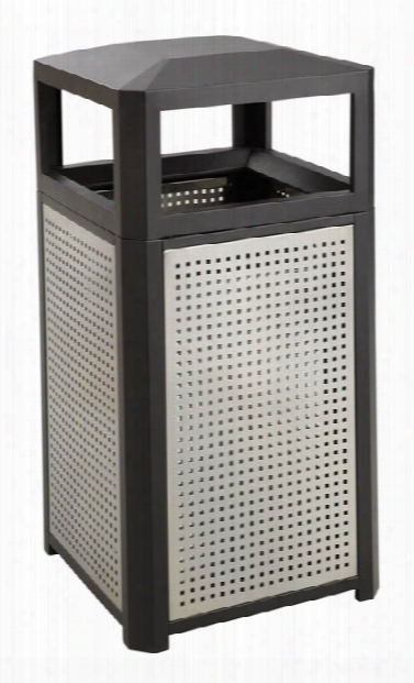 """Evosâ""""¢ Series Steel Receptacle, 15 Gallon By Safco Office Furniture"""
