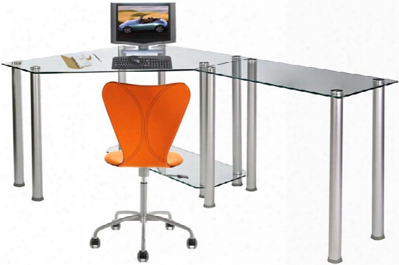Glass Corner Desk With Extension By Rta Products