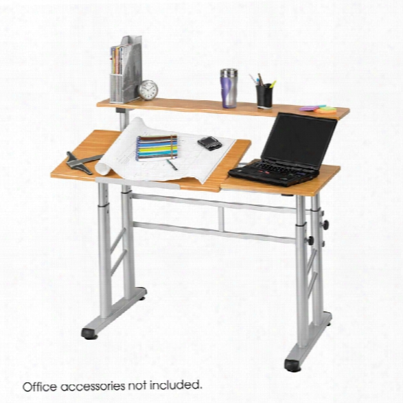 Height-adjustable Split Level Drafting Taable By Safco Office Furniture