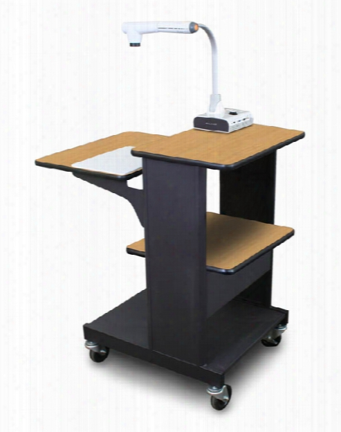 Marvel Vizion Benchmark Mobile Presentation Cart - (oak Laminate) By Marvel