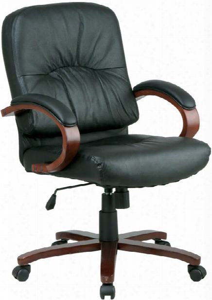 Mid Back Executive Leather Chair By Office Source
