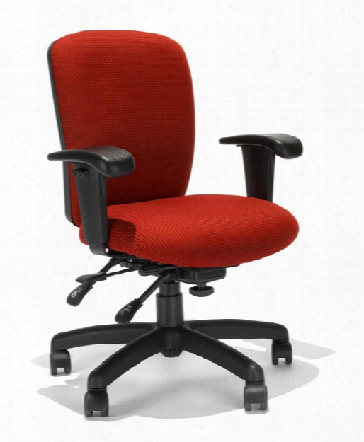 Mid Back Task Chair With Seat Slider By Rfm Seating