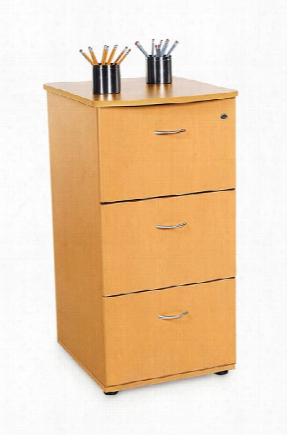 Milano 3 Drawer File Cabinet By Ofm
