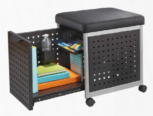 Mobile Filing With Cushioned Seat By Safco Office Furniture