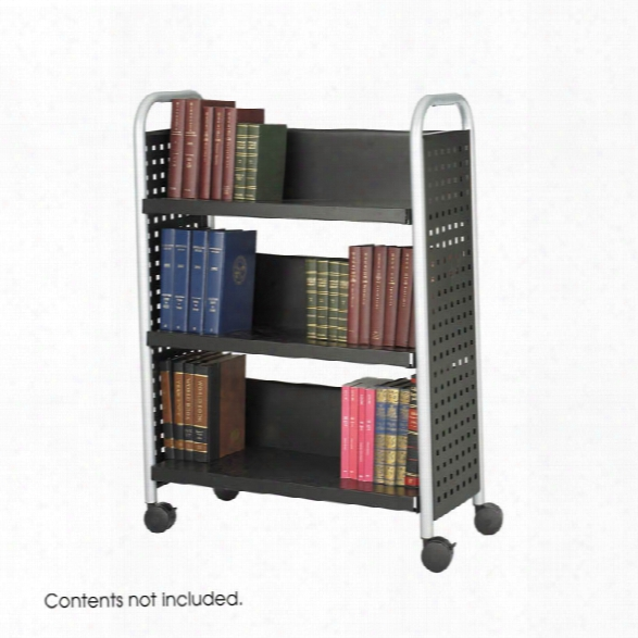 Single-sided Book Cart By Safco Office Furniture