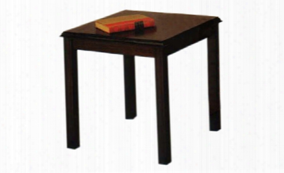Solid Wood End Table By Lesro