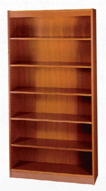 Square-edge Veneer Bookcase - 6 Shelf By Safco Office Furniture